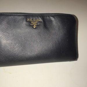Prada SaffyZip around Wallet